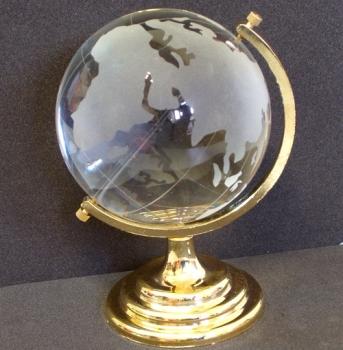 Фото - Глобус хрустальный белый (5)(9х5,5х5,5 см) купить в киеве на подарок, цена, отзывы