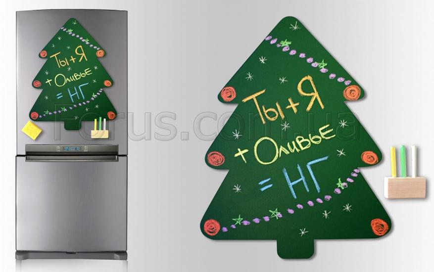 Фото - Магнитная доска для мела Ёлочка 60*40 см. купить в киеве на подарок, цена, отзывы