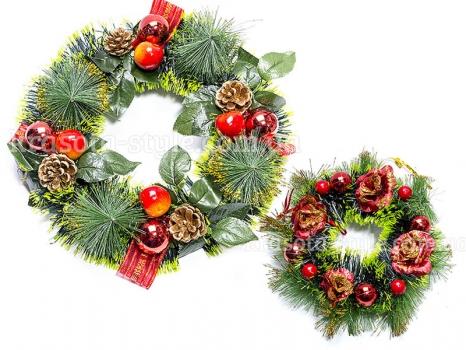 Фото - Венок новогодний 2 шт Волшебство купить в киеве на подарок, цена, отзывы
