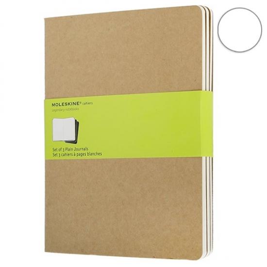 Фото - 3 блокнота Moleskine Cahier больших бежевых купить в киеве на подарок, цена, отзывы