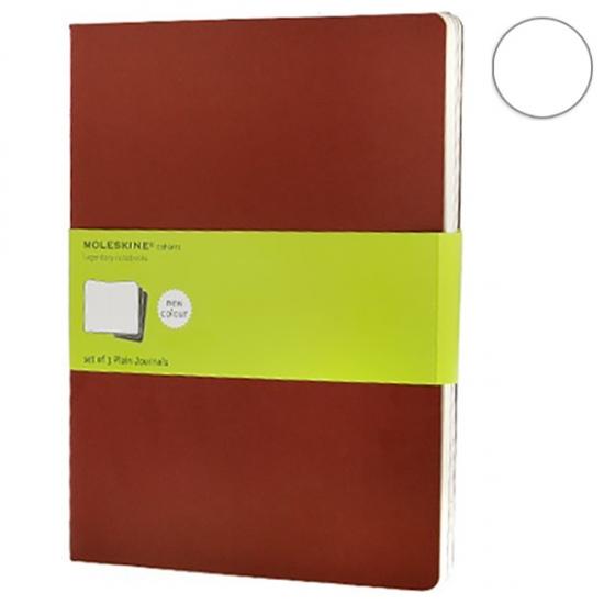 Фото - 3 блокнота Moleskine Cahier больших бордо купить в киеве на подарок, цена, отзывы