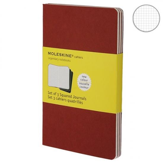 Фото - 3 блокнота Moleskine Cahier маленьких бордо купить в киеве на подарок, цена, отзывы