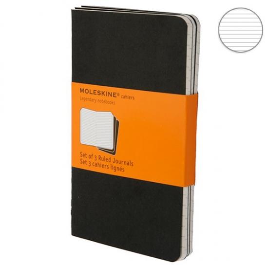 Фото - 3 блокнота Moleskine Cahier orange черных купить в киеве на подарок, цена, отзывы