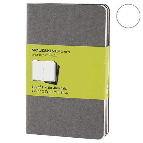 Фото - 3 блокнота Moleskine Cahier серых купить в киеве на подарок, цена, отзывы