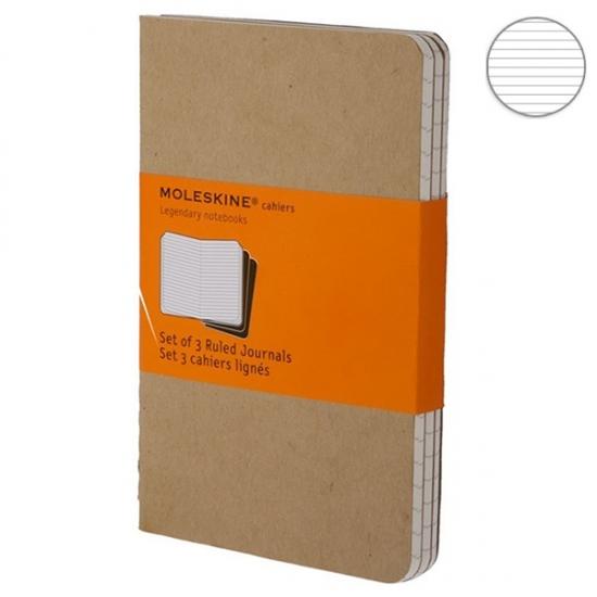 Фото - 3 блокнота Moleskine Cahier средних бежевых купить в киеве на подарок, цена, отзывы