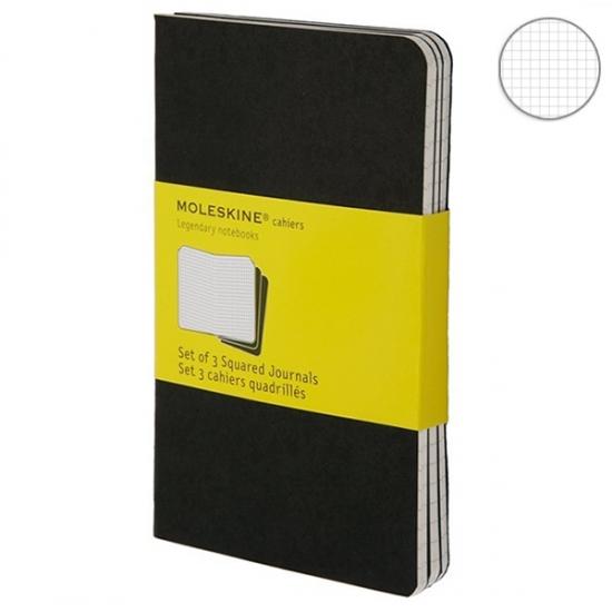 Фото - 3 блокнота Moleskine Cahier средних черных купить в киеве на подарок, цена, отзывы