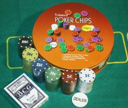Фото - Покерный набор в Металлической коробке 120 купить в киеве на подарок, цена, отзывы