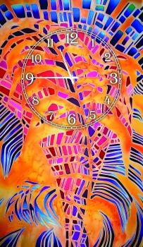 Фото - Часы на холсте Неопределенность 25х50 купить в киеве на подарок, цена, отзывы