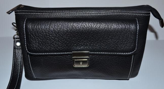Фото - Барсетка кожаная мужская Black 111 купить в киеве на подарок, цена, отзывы