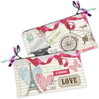 Фото - Косметичка кошелек Париж Love купить в киеве на подарок, цена, отзывы