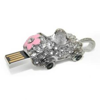 Фото - Флешка 8gb металл со стразами Машина купить в киеве на подарок, цена, отзывы