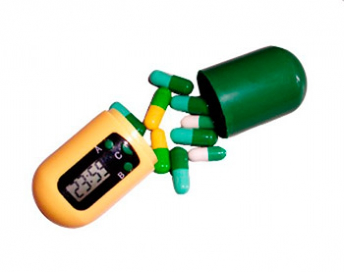 Фото - Контейнер для таблеток с таймером НАПОМИНАТЕЛЬ купить в киеве на подарок, цена, отзывы