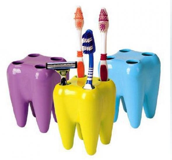 Фото - Подставка для зубных щеток в виде зубок купить в киеве на подарок, цена, отзывы