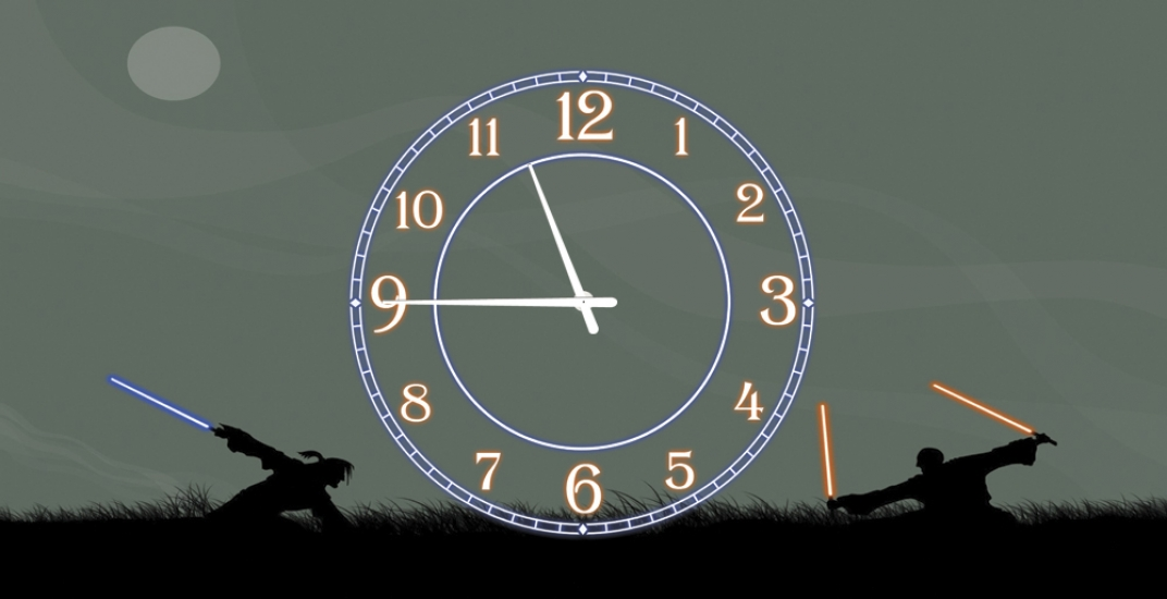 Фото - Часы на холсте Джедай 25х50 купить в киеве на подарок, цена, отзывы