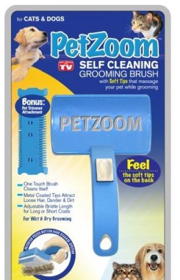 Фото - Расческа для собак и кошек Petzoom Self Cleaning купить в киеве на подарок, цена, отзывы