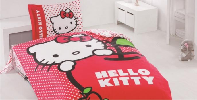 Фото - Детский набор постельного белья Hello Kitty Яблочко купить в киеве на подарок, цена, отзывы