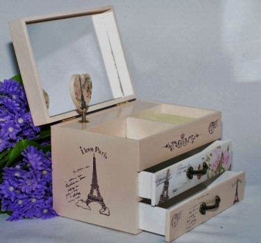 Фото - Шкатулка музыкальная Париж купить в киеве на подарок, цена, отзывы