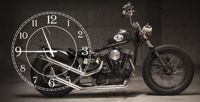 Фото - Часы на холсте Мотоцикл 25х50 купить в киеве на подарок, цена, отзывы