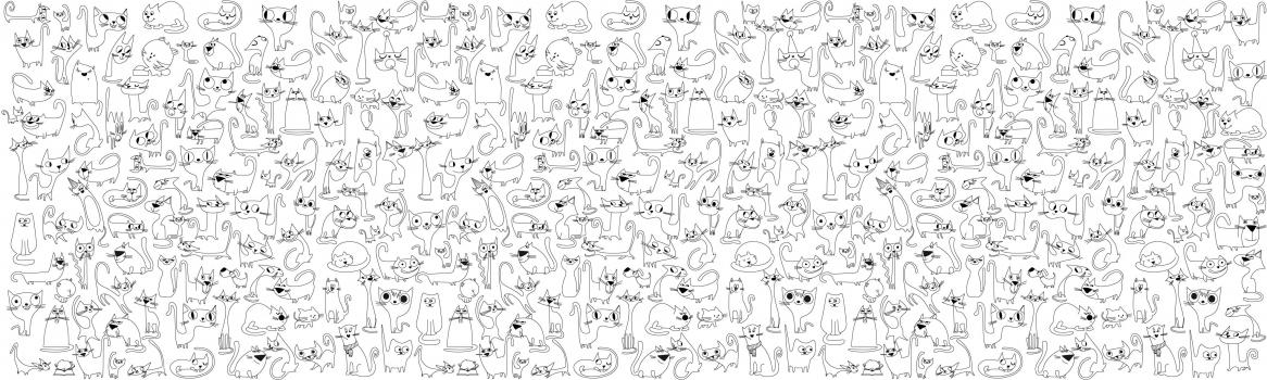Фото - Обои раскраска - Веселые котята 2.0х0.6м купить в киеве на подарок, цена, отзывы