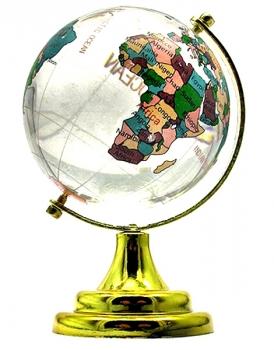 Фото - Глобус настольный цветной 6,5см купить в киеве на подарок, цена, отзывы