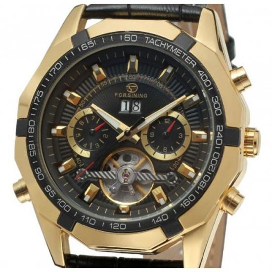 89d864c39482 ... отзывы · фото 14577 Мужские классические часы Forsining Texas Gold цена,  ...