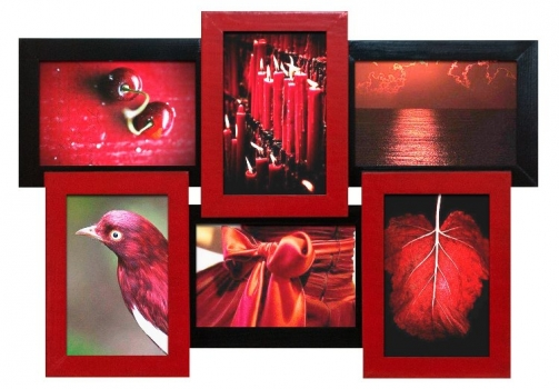 Фото - Мультирамка Красное и Черное на 6 фото купить в киеве на подарок, цена, отзывы