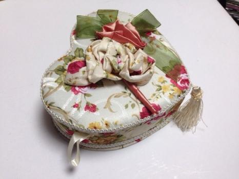 Фото - Шкатулка тканевая сердце купить в киеве на подарок, цена, отзывы