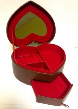Фото - Шкатулка Кожанная сердце купить в киеве на подарок, цена, отзывы