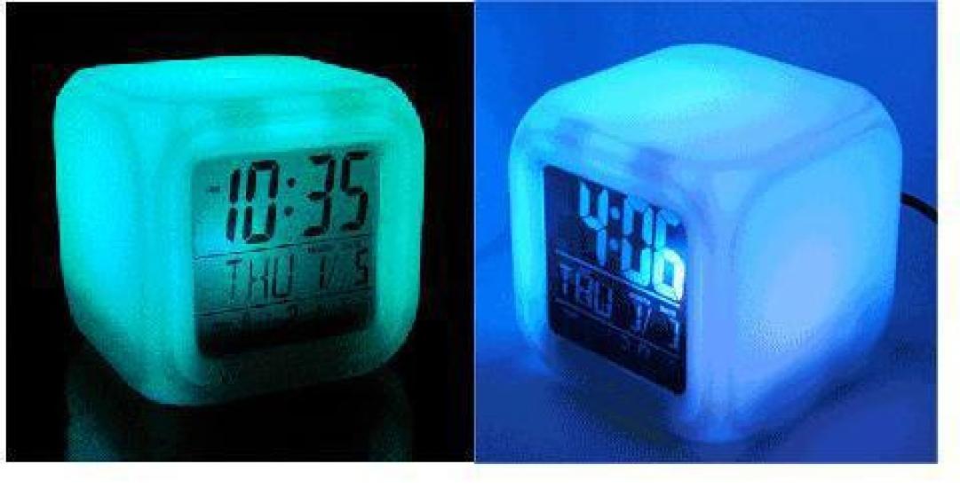 Фото - Часы будильник хамелеон с термометром купить в киеве на подарок, цена, отзывы