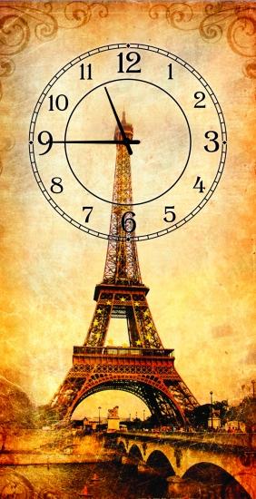Фото - Часы на холсте Париж 25х50 купить в киеве на подарок, цена, отзывы