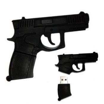 Фото - Флешка 8gb силиконовая Пистолет купить в киеве на подарок, цена, отзывы