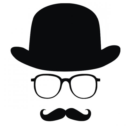 Наклейка Шляпа-очки-усы мал купить недорого в Киеве, цена ...