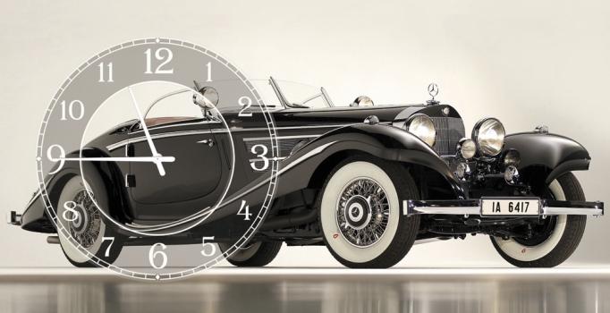 Фото - Часы на холсте Ретро 25х50 купить в киеве на подарок, цена, отзывы
