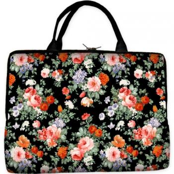 Фото - Сумка-чехол для ноутбука Цветы купить в киеве на подарок, цена, отзывы