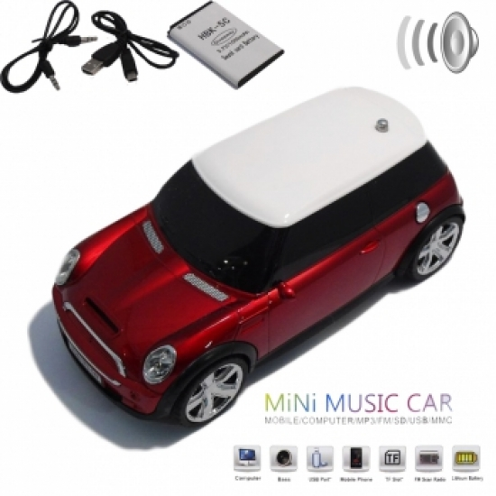 Фото - Колонка - Машинка Mini Cooper (колонка, плеер mp3, радио) black купить в киеве на подарок, цена, отзывы
