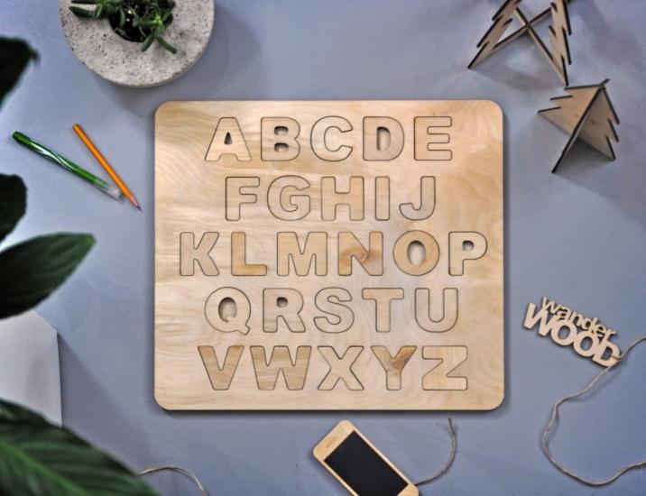 Фото - Алфавит деревянный Английский купить в киеве на подарок, цена, отзывы