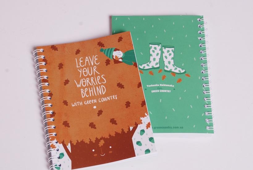 Фото - Блокнот А5 Leave worries купить в киеве на подарок, цена, отзывы