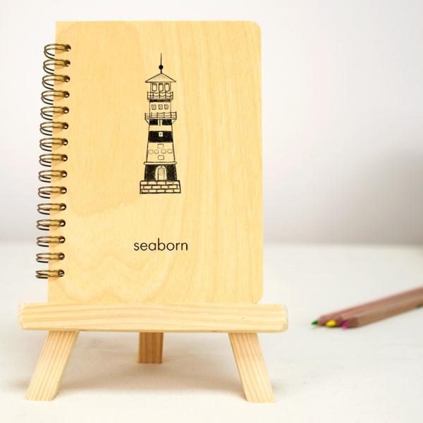 Фото - Блокнот А6 Seaborn (береза) купить в киеве на подарок, цена, отзывы