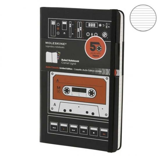 Фото - Блокнот Moleskine Audiocassette средний Линейка купить в киеве на подарок, цена, отзывы