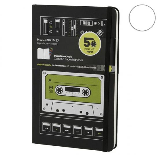 Фото - Блокнот Moleskine Audiocassette средний нелинованные купить в киеве на подарок, цена, отзывы
