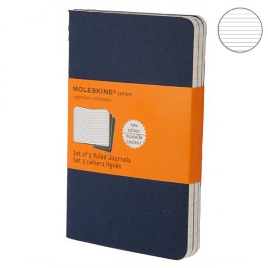 Фото - Блокнот Moleskine Cahier маленький синий купить в киеве на подарок, цена, отзывы