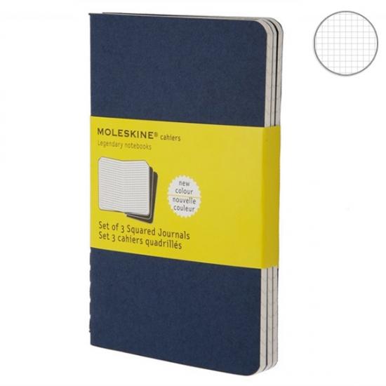 Фото - Блокнот Moleskine Cahier средний синий купить в киеве на подарок, цена, отзывы