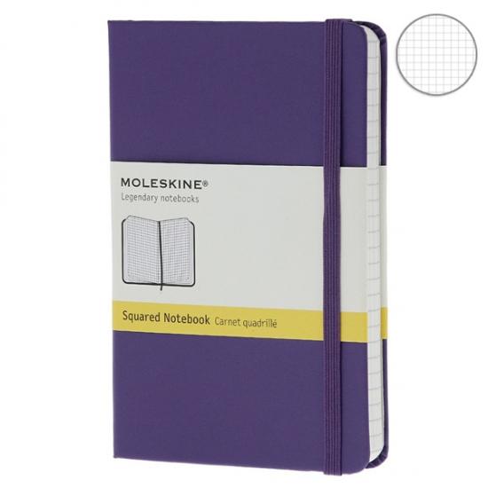 Фото - Блокнот Moleskine Classic карманный Клетка Фиолетовый купить в киеве на подарок, цена, отзывы
