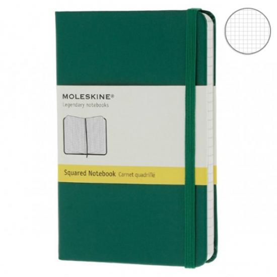 Фото - Блокнот Moleskine Classic карманный Клетка Зеленый купить в киеве на подарок, цена, отзывы