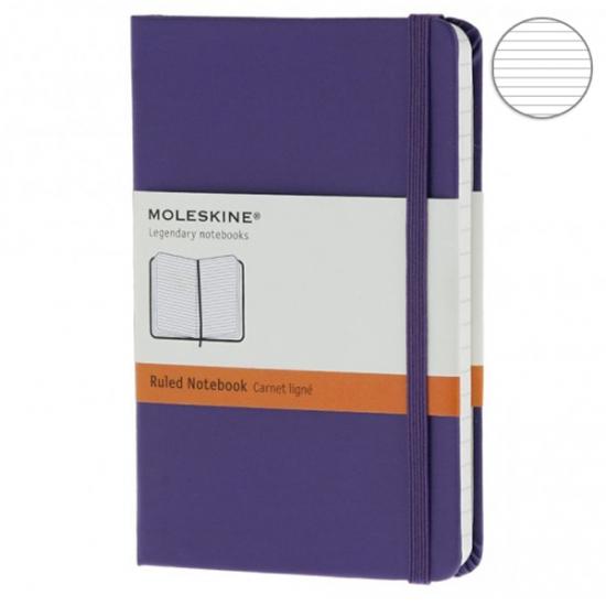 Фото - Блокнот Moleskine Classic карманный Линейка Фиолетовый купить в киеве на подарок, цена, отзывы