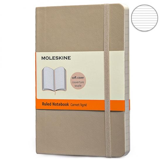 Фото - Блокнот Moleskine Classic карманный Линейка Пшеничный Мягкий купить в киеве на подарок, цена, отзывы