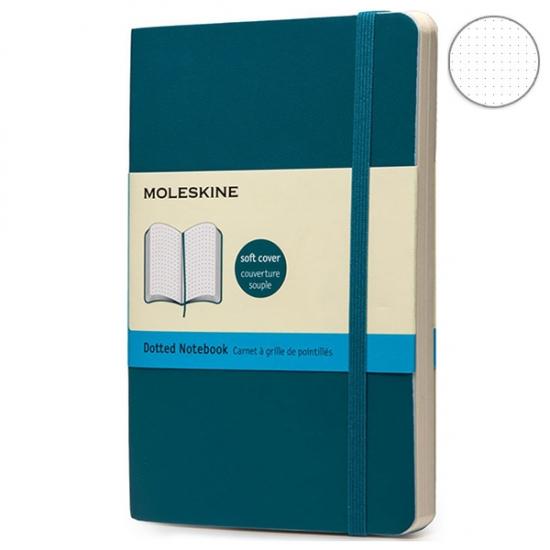 Фото - Блокнот Moleskine Classic карманный Точка Аквамарин Мягкий купить в киеве на подарок, цена, отзывы