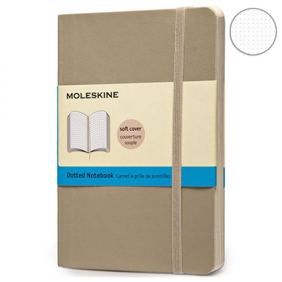 Фото - Блокнот Moleskine Classic карманный Точка Пшеничный Мягкий купить в киеве на подарок, цена, отзывы