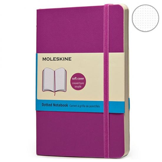 Фото - Блокнот Moleskine Classic карманный Точка Розовый Мягкий купить в киеве на подарок, цена, отзывы