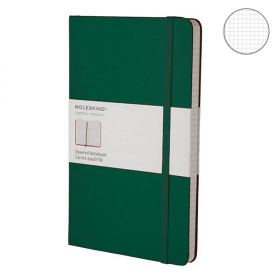 Фото - Блокнот Moleskine Classic средний Ячейка Зеленый купить в киеве на подарок, цена, отзывы